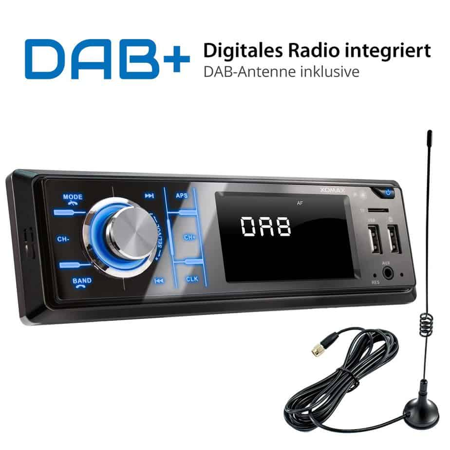 autoradio mit dab bluetooth 2xusb xm rd267 autoradio24. Black Bedroom Furniture Sets. Home Design Ideas